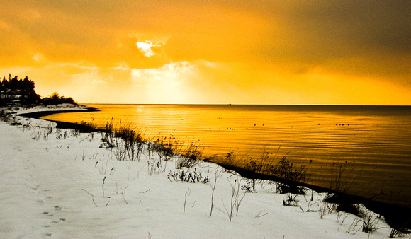 Snowy Spit Sunset